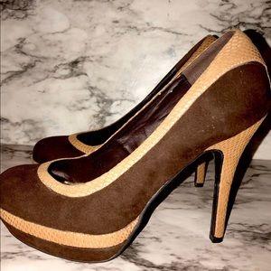 Baby phat brown/Carmel platform heels 8.5